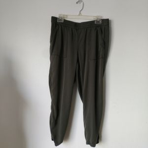 Style & co olive green joggers pockets sz 12